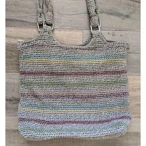 The Sak Voyager Striped Crochet Bag